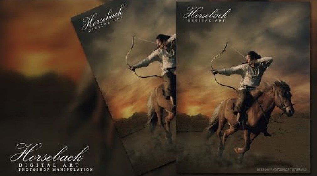 สอน Photoshop : Digital Art Photoshop Manipulation - Horseback