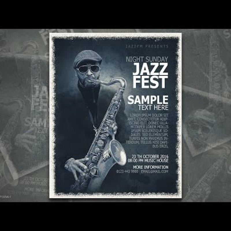 สอน Photoshop : - Jazz Fest Poster