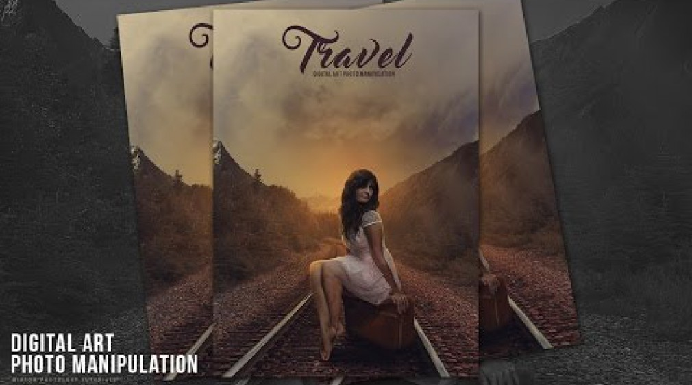 สอน Photoshop : Travel Photo Manipulation Effects