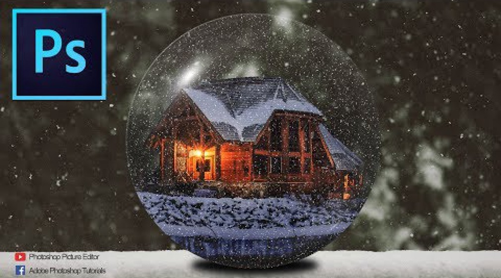 Photoshop Tutorials: Christmas Crystal Ball