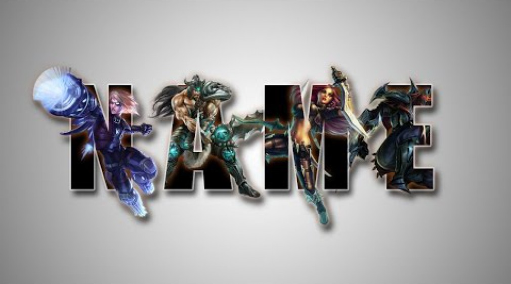 สอน Photoshop : Create League Of Legend Text Effect