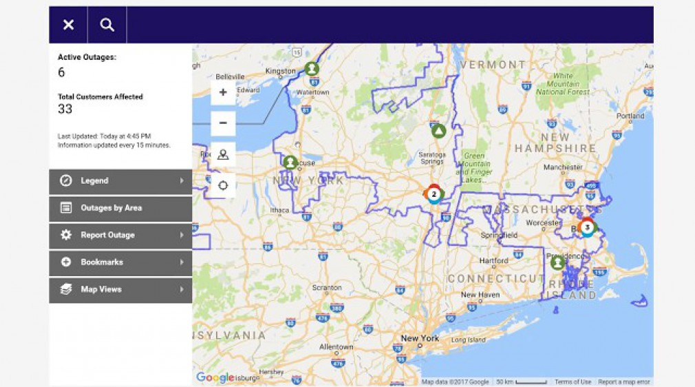Report or Check an Outage - Outage Map