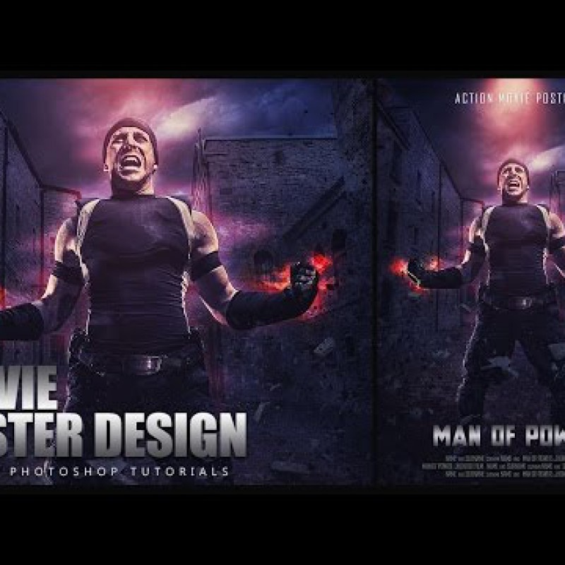 สอน Photoshop : Create a Dramatic Action Movie Poster In Photoshop CC