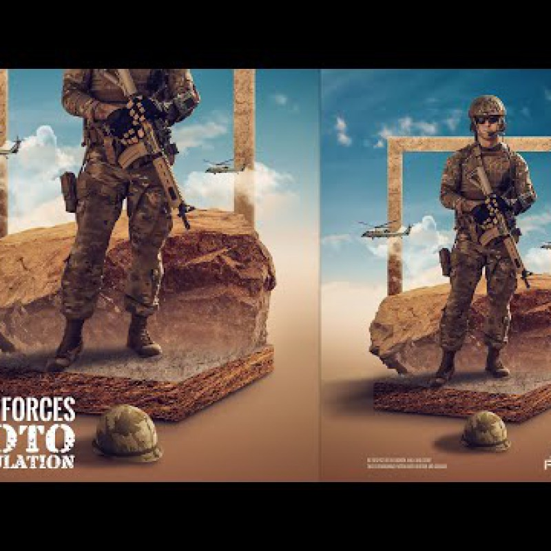 Armed Forces - Advanced Photo Manipulation Photosop Tutorial