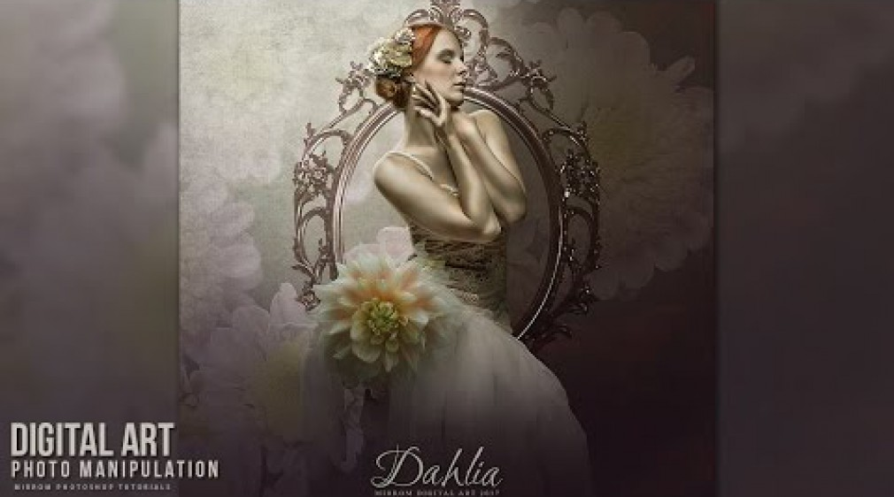 สอน Photoshop : Dahlia - Digital Art Photo Manipulation Tutorial