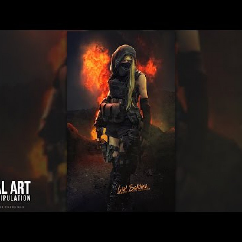 สอน Photoshop : Create a Dark Tone Poster Manipulation Effect Photoshop Tutorial