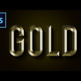 สอน Photoshop : Gold Text Effect