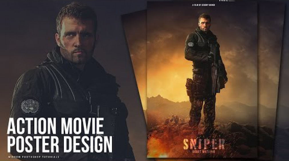 สอน Photoshop : Create an Action Movie Poster Manipulation Effects Photoshop