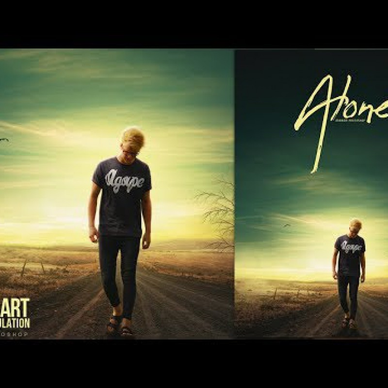 Alone Minimalist Photo Manipulation - Photoshop Tutorial