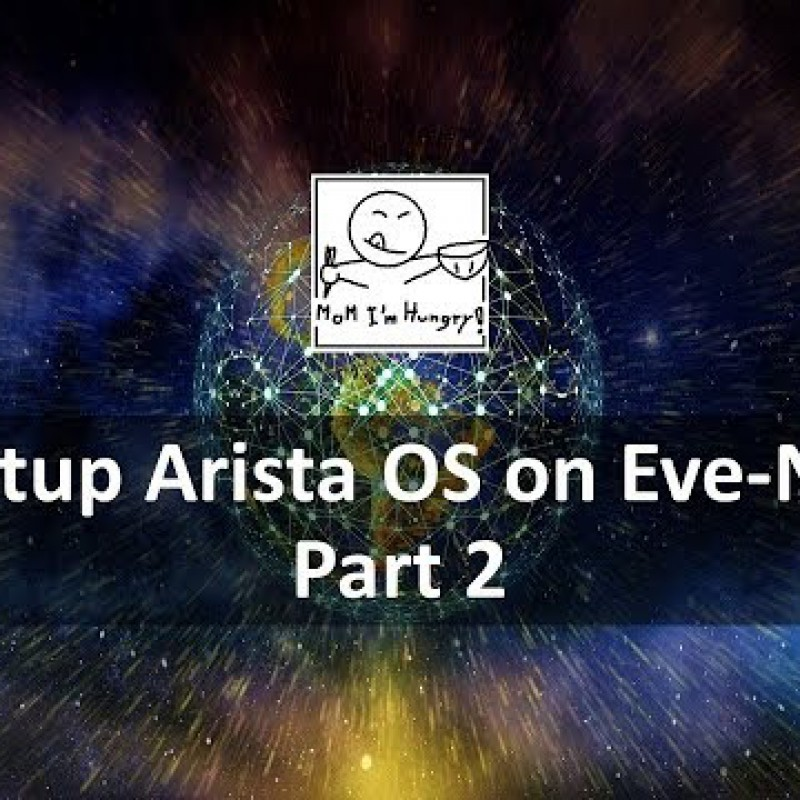 Setup Arista OS on Eve-NG part 2