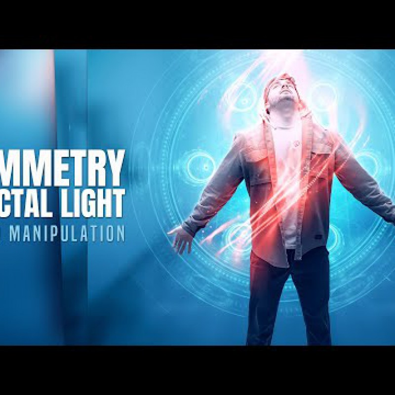 Create an Symmetry Fractal Light Photo Manipulation in Photoshop
