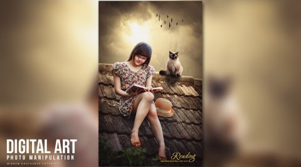 สอน Photoshop : Create an Beautiful Portrait Photo Manipulation With Photoshop