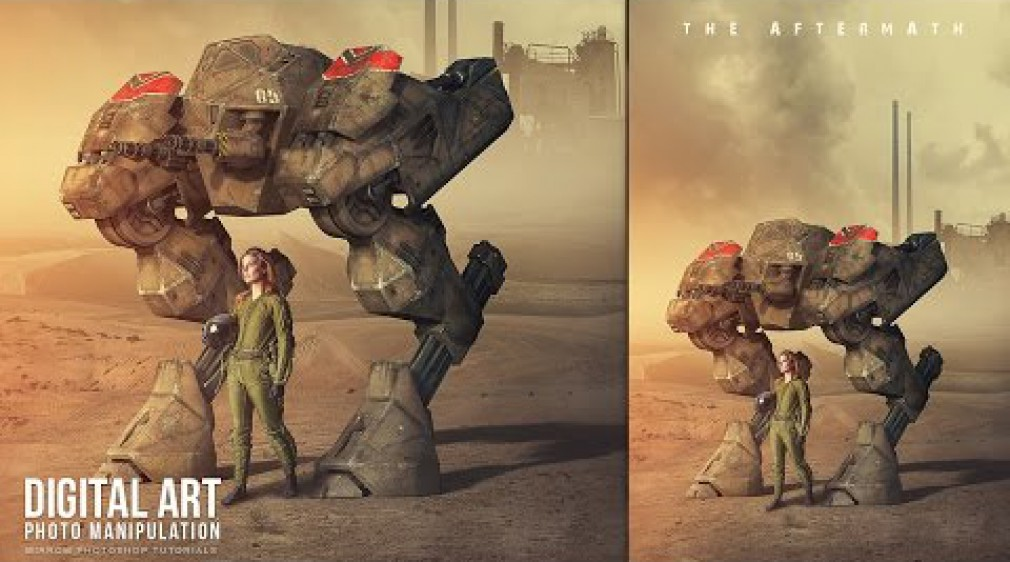 สอน Photoshop : The Aftermath Sci-Fi Photo Manipulation In Photoshop CC