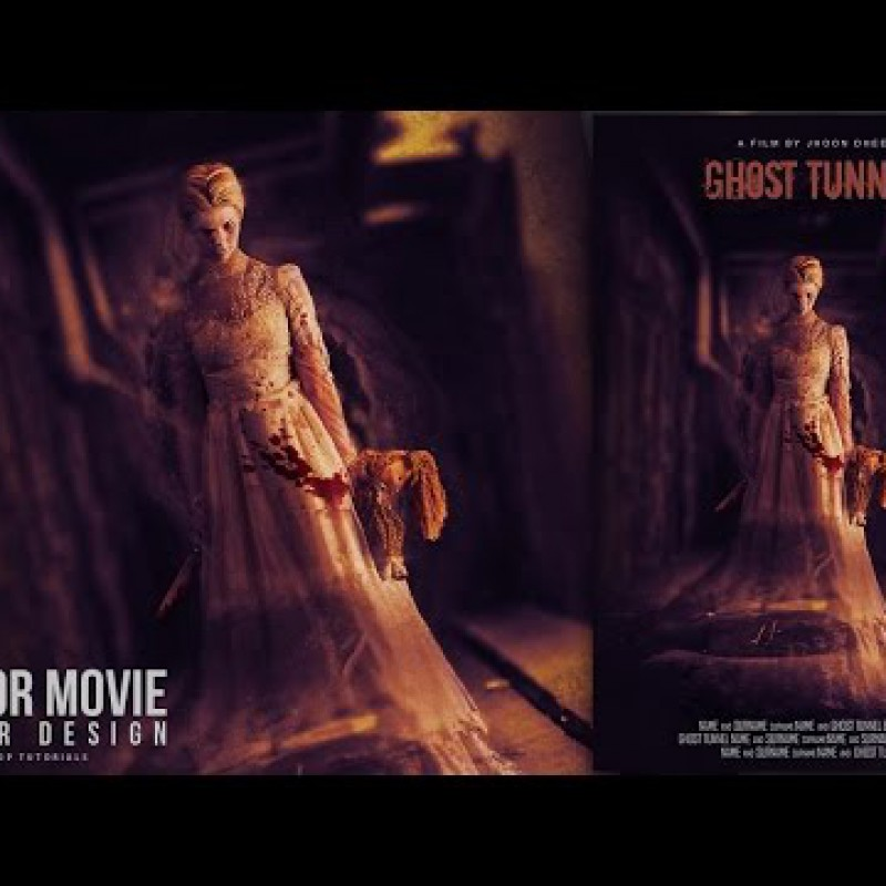 สอน Photoshop : Create a Ghost Tunnel Horror Movie Poster Photoshop Tutorial
