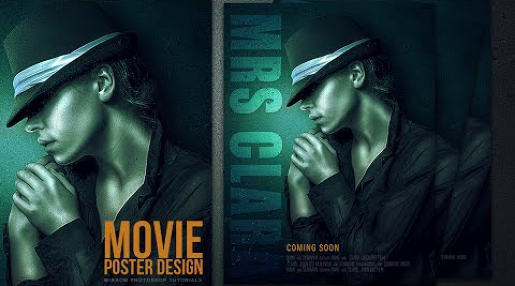 สอน Photoshop : Photoshop Tutorial | Cyan Texture and Sharp Details For Movie Poster