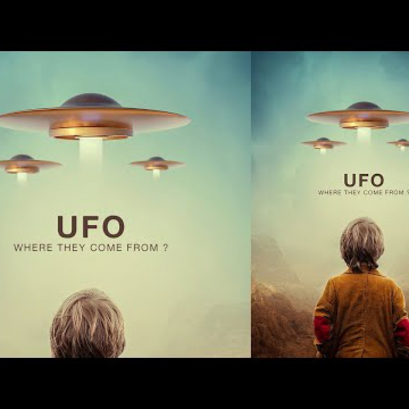 UFO - Poster Photo Manipulation Tutorial Photoshop 2020