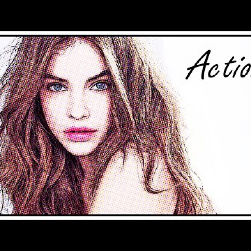 สอน Photoshop :  Loading Actions Cartoon