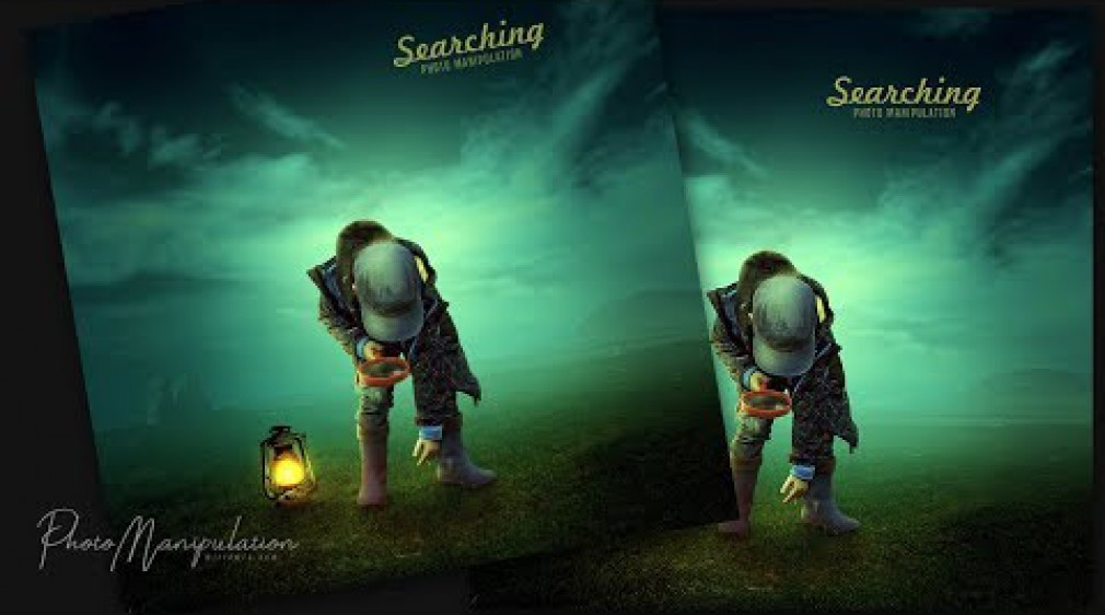 Searching - Photo Manipulation Light Effects in Photoshop CC