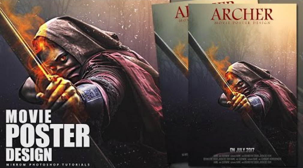 สอน Photoshop : Action Movie Poster Design Photoshop  - Archer
