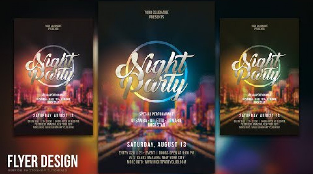 สอน Photoshop : How to Design a Night Party Flyer in Photoshop CC