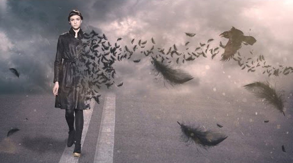 สอน Photoshop :   Create Feather Disintegration