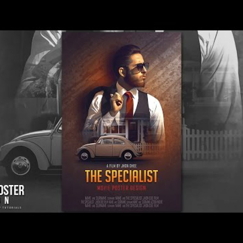 สอน Photoshop : How To Create a Dramatic Movie Poster In Photoshop
