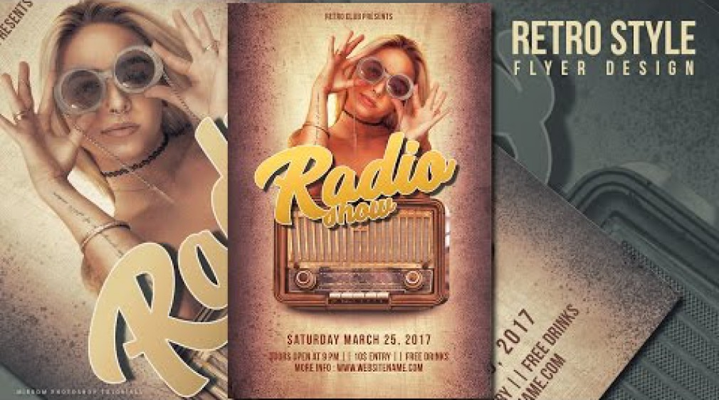 สอน Photoshop : Create a Retro Style Radio Show Flyer In Photoshop