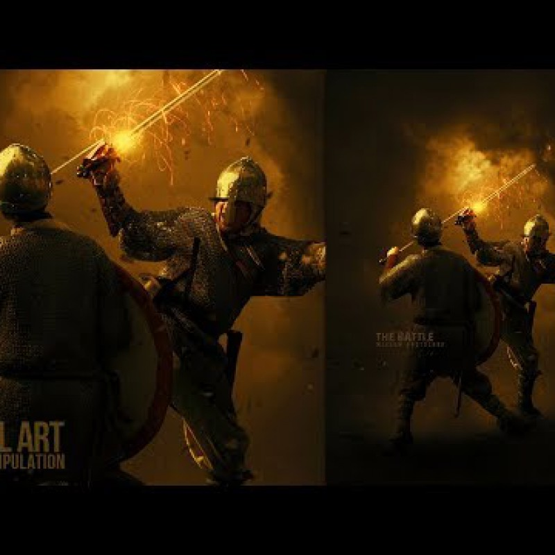 The Battle Photo Manipulation in Photoshop CC