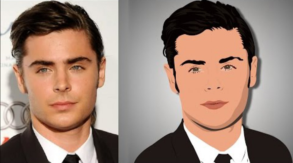 สอน Photoshop : Transform Portrait into ART Cartoon Part 1