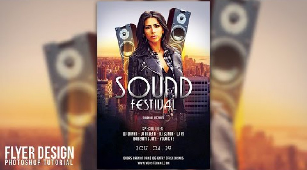 สอน Photoshop : Design a Sound Festival Flyer In Photoshop