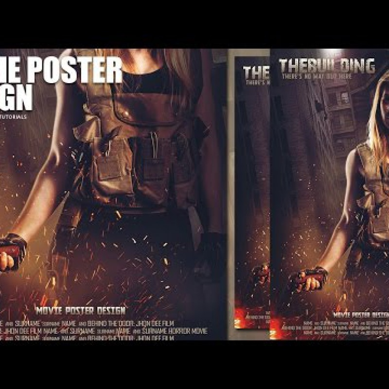 สอน Photoshop : Creating a Movie Poster Manipulation In Phtoshop - The Building