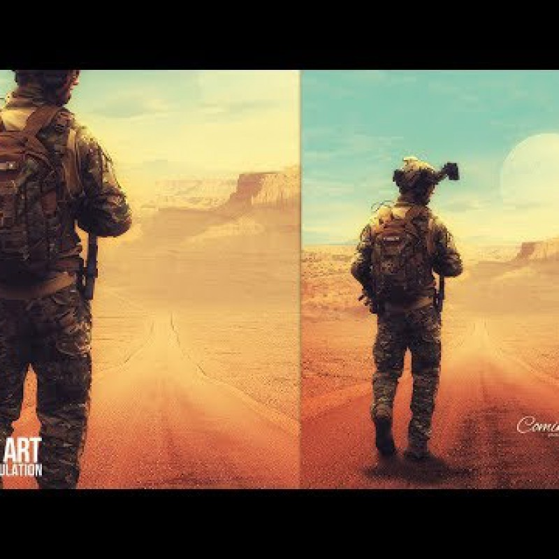 Coming Home - Fantasy Photo Manipulation Photoshop Tutorial