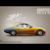 สอน Photoshop : Make a Car Advertisement Poster Manipulation Concept in Photoshop