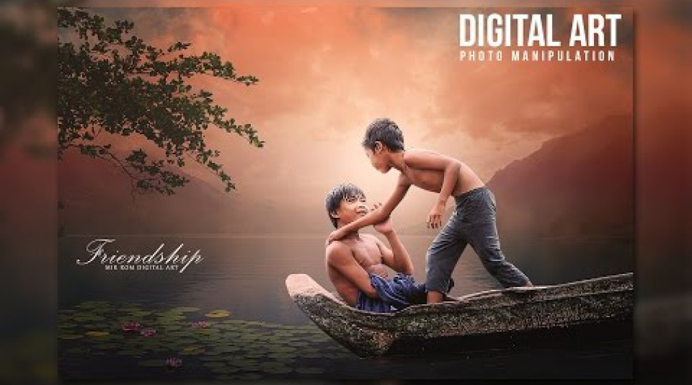สอน Photoshop : Create a Friendship Beautiful Photo Manipulation In Photoshop CC