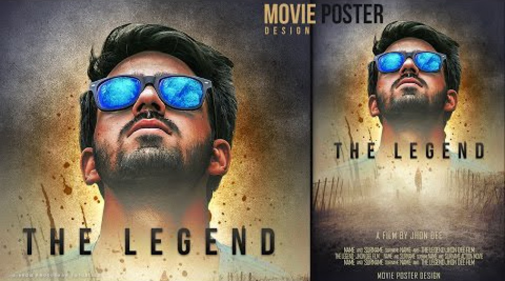 สอน Photoshop : Make a Movie Poster With Texture Background In Photoshop