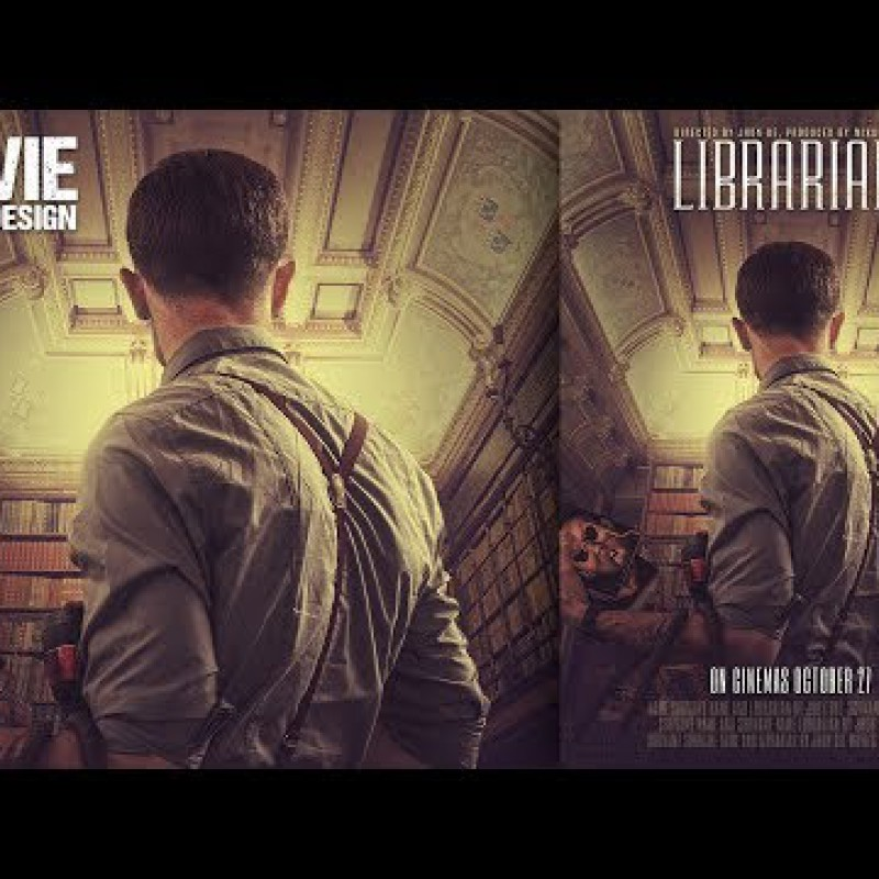 Make a Librarian Movie Poster Design in Adobe Photoshop CC