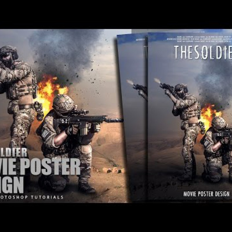 สอน Photoshop : Create The Soldier Movie Teaser Poster
