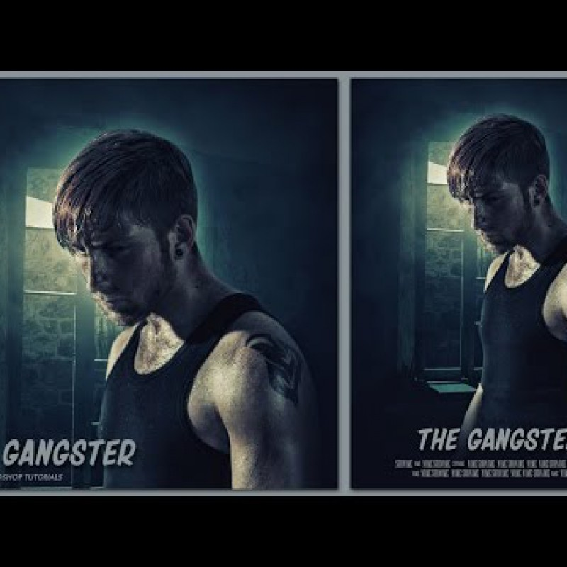 สอน Photoshop : Create an The Gangster Movie Poster In Photoshop