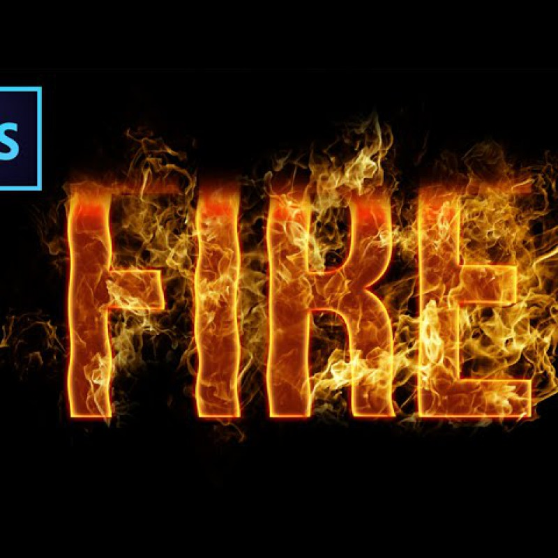 สอน Photoshop : Fire Text Effect