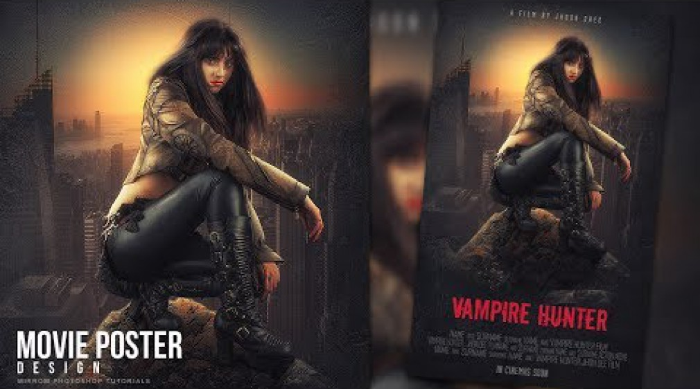 สอน Photoshop : Make a Movie Poster With Grunge Texture In Photoshop