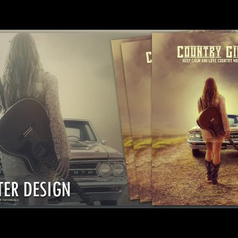 สอน Photoshop : Create a Country Girl Poster Design In Photoshop
