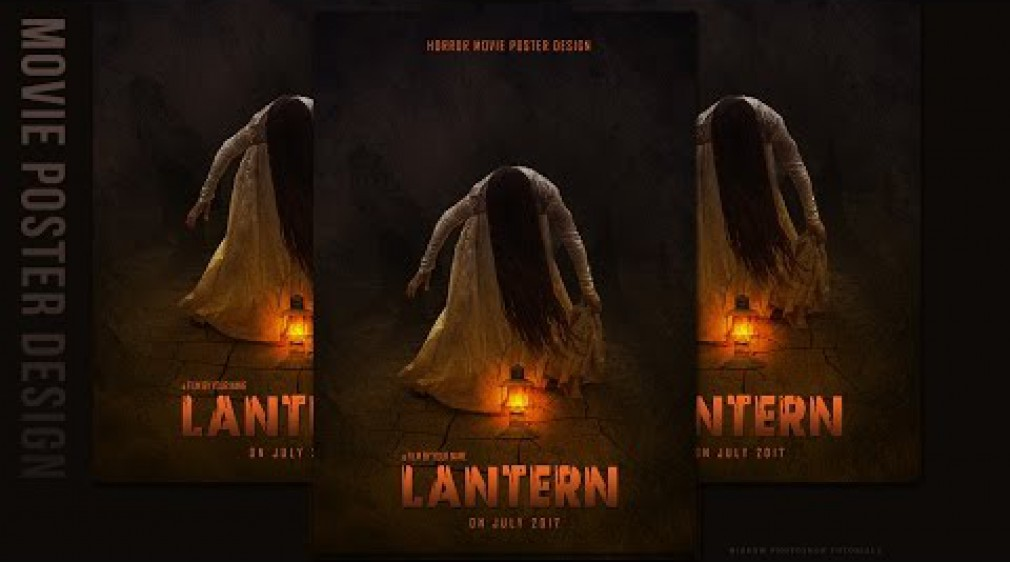 สอน Photoshop : Create a Creepy Horror Movie Poster In Photoshop