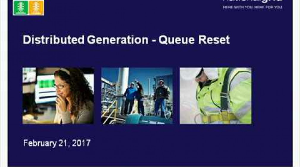 Distributed Generation - Queue Reset | National Grid