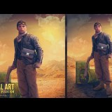 สอน Photoshop : Desert Mission Photo Manipulation Effect Photoshop Tutorial