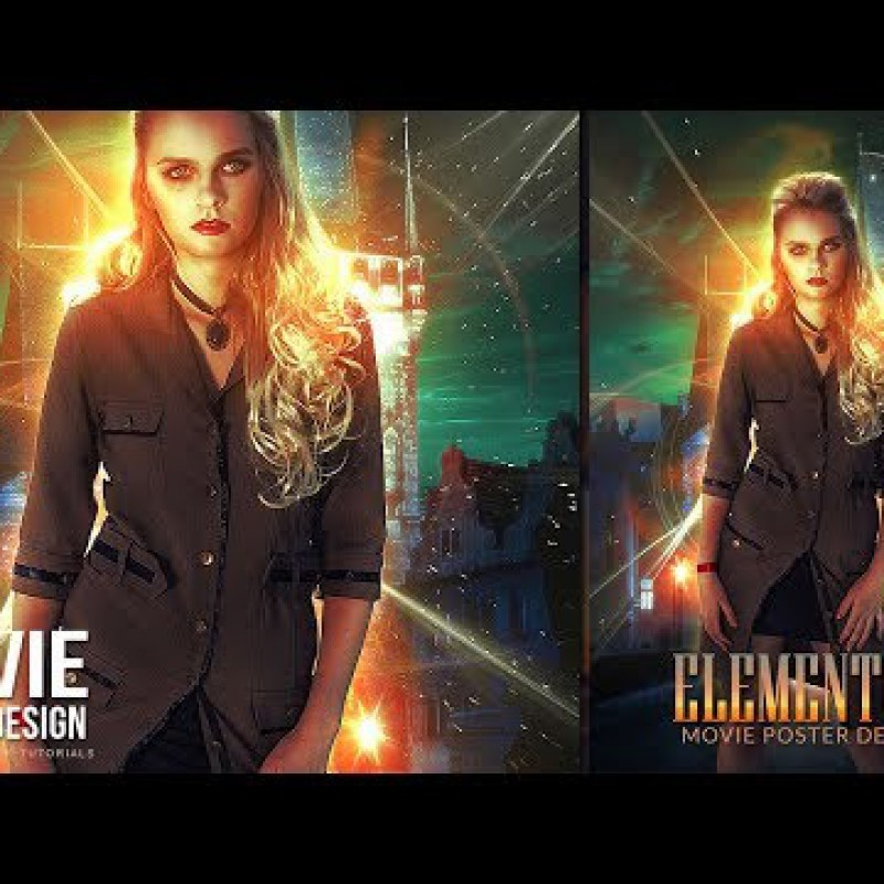 สอน Photoshop : Create Abstract light effects in Movie Poster - Photoshop Tutorial