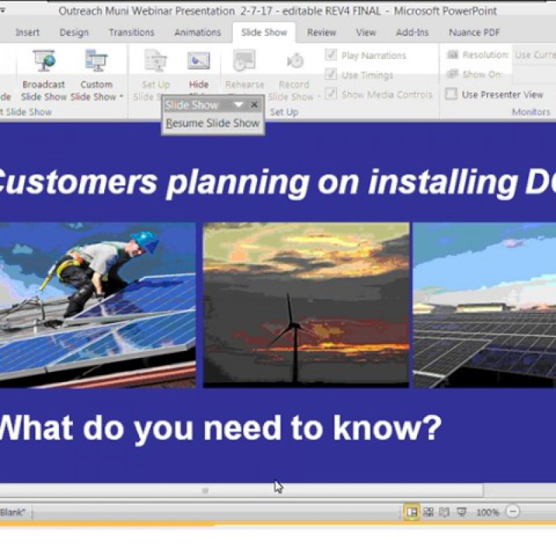National Grid: Customers Planning on Installing DG- What Do You Need to Know?