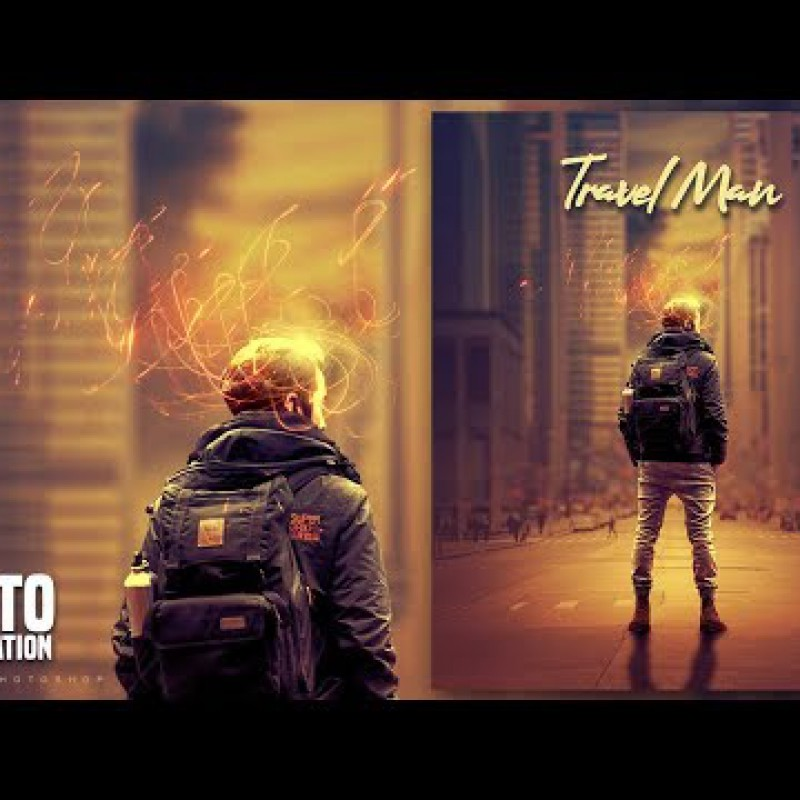 สอน Photoshop : Create a Fantasy Travel Man Photo Manipulation in Photoshop