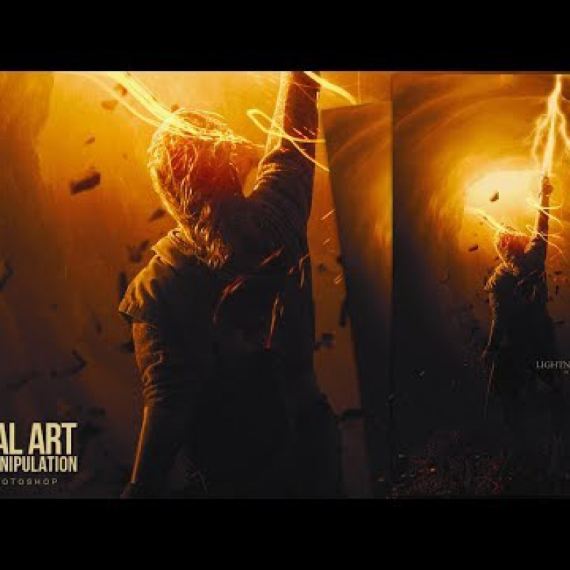 Lightning Sword - Digital Art Photo Manipulation Tutorial