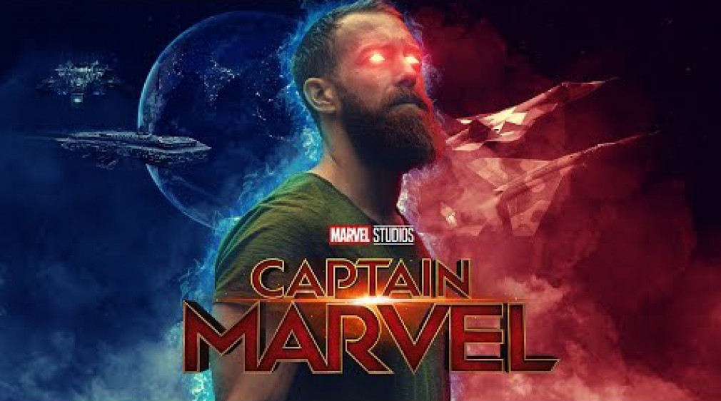 สอน Photoshop : Captain Marvel Poster Photoshop